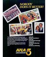 KTLA TV 5 Los Angeles Rose Parade Coverage 1985 AD - $14.99