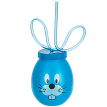 Bunny Cup with Swirl Straw Choose 1 From 4 Colors:Blue, Pink, Purple, or... - $3.50