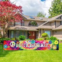 60'S Tie Dye Birthday Banner, Groovy Birthday Banner Sign, 1960S Hippi - $19.99