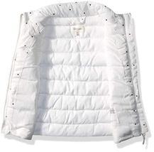 Gymboree Girls' Big Puffer Vest, White/Gold Heart, 3T image 2