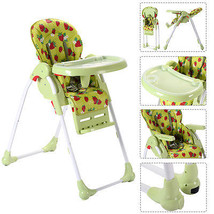 Adjustable Baby High Chair Infant Toddler Feeding Booster Seat Folding G... - $70.90