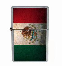 Mexico Flag Rs1 Flip Top Oil Lighter Wind Resistant With Case - $13.95