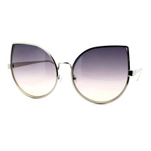 Womens Foxy Cateye Sunglasses Super Oversized Big Metal Frame - $10.84+