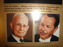The Master Key To Success - Napoleon Hill + W Clement Stone LIVE Wealth ... - $129.88
