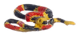 DOLLHOUSE MINIATURE SMALL EASTERN CORAL SNAKE #A3372S - $5.99