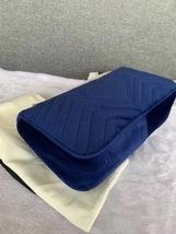 NEW Authentic GUCCI MARMONT MEDIUM ROYAL BLUE VELVET FLAP BAG  image 3