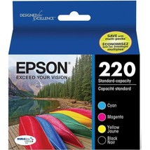 Epson DURABrite Ultra Ink 220 Ink Cartridge - Black, Cyan, Magenta, Yell... - $55.46