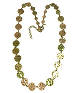 """Chicos Hammered Copper tone Metal Necklace 18"""" drop - $15.47"""