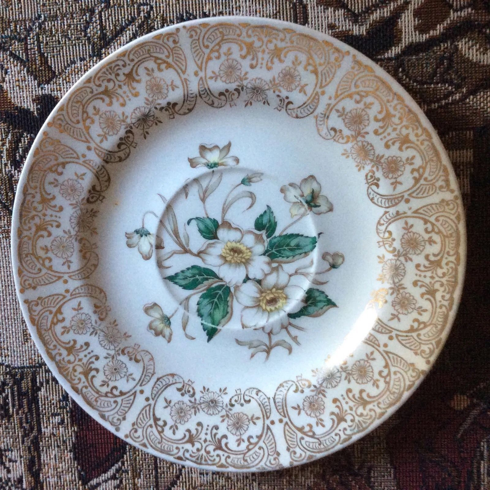 Vitreous by Edwin M Knowles China Company covered serving dish.