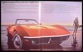 1971 Chevy Corvette StingRay ORIGINAL Brochure, MINT NOS GM 71 - $20.18