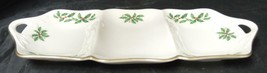 "Holiday Dimension Collection Lenox Holly Berry 13""  Divided Server - $26.59"