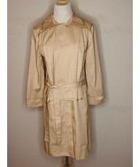 St John Women's Trench Rain Coat Jacket Belted Pink Camel NWT MSRP $995 - $199.95