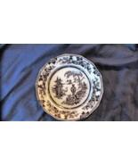 "Antique Adams JEDDO Mulberry 9 3/8"" Plate, ca 1840 - $25.23"