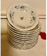 12 Johann Haviland Blue Garland Berry Dessert Bowl Platinum Trim Bavaria... - $59.99