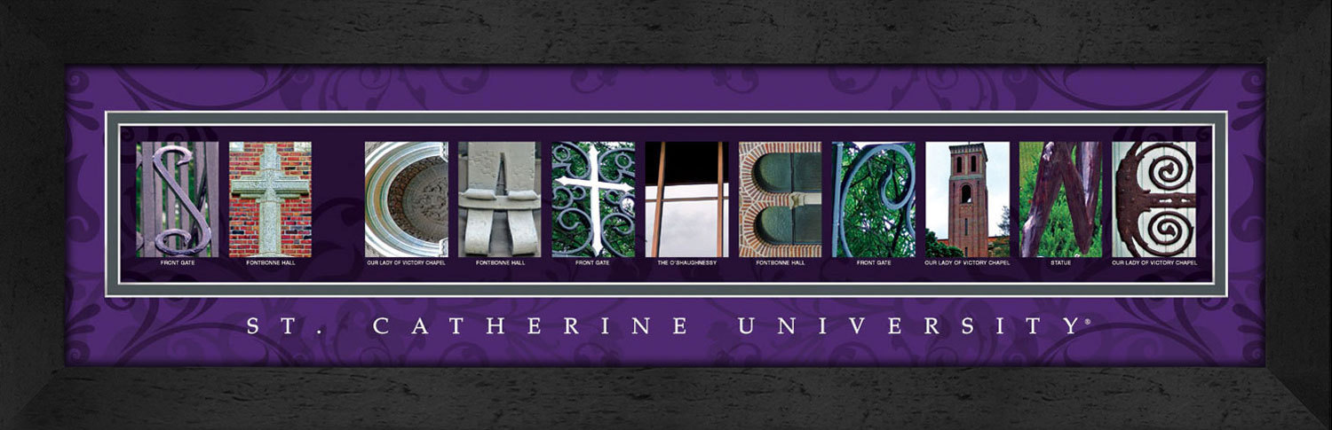 Primary image for St. Catherine University Officially Licensed Framed Campus Letter Art