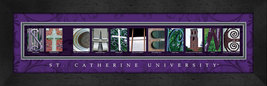 St. Catherine University Officially Licensed Framed Campus Letter Art - $39.95