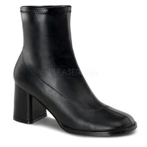 "FUNTASMA Gogo-150 Series 3"" Block Heel Ankle-High Boot - Black Str Pu - $37.95"