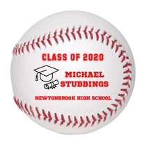Personalized Custom Class of 2020 Graduation Baseball Gift Red Text - $34.95