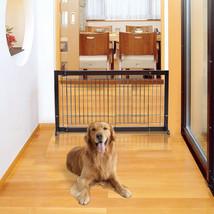 Adjustable Solid Wood Free Stand Dog Gate Pet Fence - $79.07