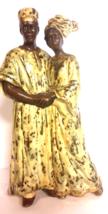 "African Wedding Couple, Ceramic Figurine, Home Decor 12""T - $49.00"