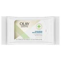 Olay Sensitive Makeup Remover Wipes with Hungarian Water Essence, 25 ct - $24.97