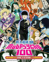 Mob Psycho 100 DVD Season 1+2 +2 Special (English Dub) Anime Ship From USA