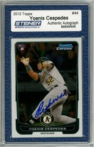 Yoenis Cespedes Signed 2012 Bowman Chrome Rookie Card #44 Slabbed by Ste... - $135.00