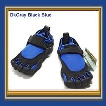 Men's Blue Vibram Minimalists Athletic Walking Running Velcro Finger Toe Shoes