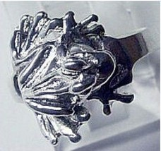 COOL Sterling Silver .925 VERY Detailed Frog Ring Jewelry - $25.06