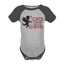 Custom Party Shop Boy's Big Brother To Be Valentine's 12 Months Grey One... - $20.58