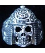 COOL Samurai military Ninja Skeleton Warrior Skull face Ring Skeletor St... - $35.57
