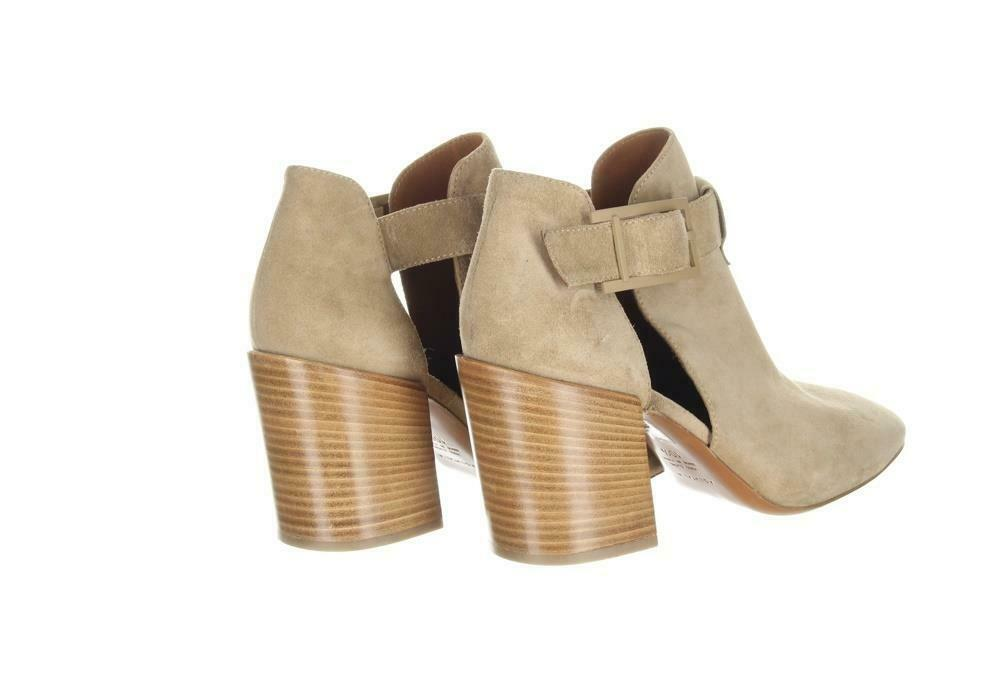 Aquatalia Women's Suede Cutout Booties Tan Ankle Boots Booties Sz. 10.5. image 8