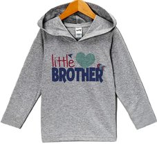 Custom Party Shop Little Brother Valentine's Day Hoodie 3T Grey - $22.05