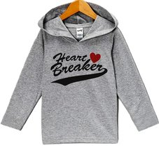 Custom Party Shop Baby's Heart Breaker Valentine's Day Hoodie 6 Months Grey - $22.05