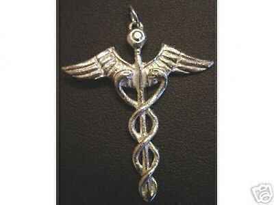 COOL Good Health Healing Celtic CADUCEUS PENDANT Jewelry image 1