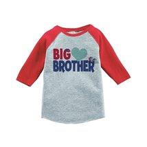 Custom Party Shop Boy's Big Brother Happy Valentine's Day 4T Red Raglan - $20.58