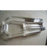 Cigar Ash Tray in Cut Glass Spoon Rest Style marked GBD - $130.00