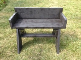 Handmade solid wood bench-one of a kind - $150.00