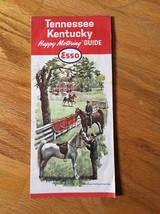 1963 Esso Humble Oil Road Highway Map Kentucky Tennessee Nashville Memphis - $8.19