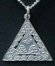 COOL Sterling Silver Pendant Names of Allah Muslim Islamic - $29.82