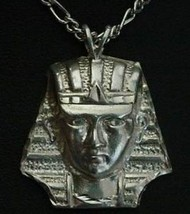 COOL Sterling Silver Pendant Pharaoh Egypt Charm King Tut - $35.57