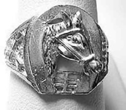 COOL Good luck Horse shoe Ring Jewelry Sterling Silver Lucky - $25.99