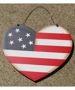 84 - Patriotic Heart Wood Sign - $2.25