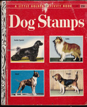 Dog Stamps a Little Golden Activity Book Collie Beagle Boxer Cocker Spaniel - $10.03