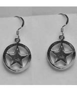 COOL New Deputy Sterling Silver earring Sheriff badge police - $28.68