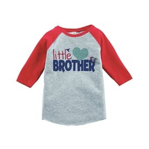 Custom Party Shop Boy's Little Brother Happy Valentine's Day 3T Red Raglan - $20.58