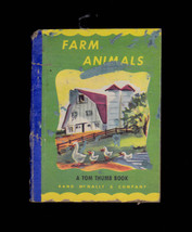 Farm Animals A Tom Thumb Book (1949) Rand McNally - $12.01