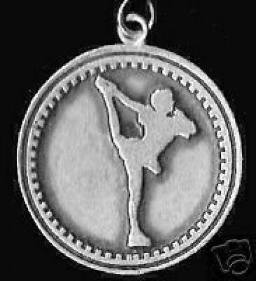 COOL Sterling silver 925 Ice Skate figure skating shoe charm