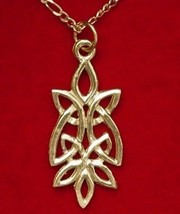 COOL Celtic Knot of Infinity Gold Plated pendant charm - $25.99