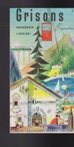 Grisons Graubunden I Grigioni Switzerland Brochure 1960s - $16.00